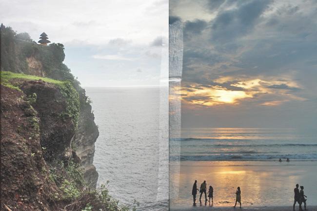 Bali Uluwatu Temple Tempel Cliff Klippe KuDeTa Sonnenuntergang Sunset