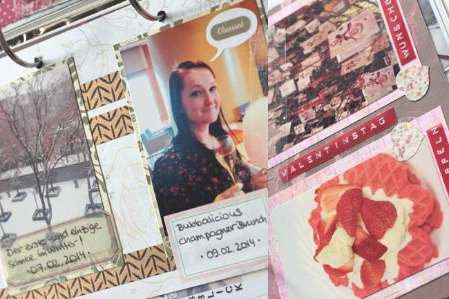 Memory Book Februar 2014 Scrapbooking Kreativität Basteln Filofaxing