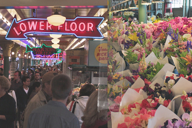 Seattle Washington USA Westküste Roadtrip Pike Place Market Flowers | pekingenten.com